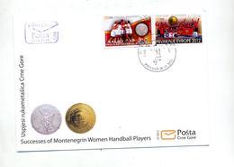 Lettre Cachet Succes Championnat Europe Feminin Handball - Montenegro