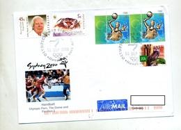 Lettre Cachet Sidney Jeu Olympique Handball - 2000-09 Elizabeth II