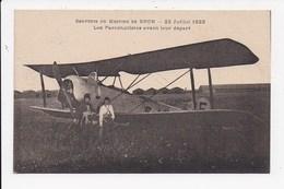 CPA AVIATION Souvenir Du Meeting De Bron 22 Juillet 1923 Les Parachutistes Avant Leur Depart - Meetings