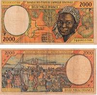Etats D'Afrique Centrale 2000 Francs - Central African States
