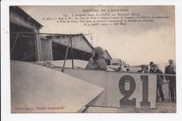 CPA AVIATION L'aviateur Louis Bleriot Sur Monoplan Bleriot - Aviatori