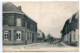 WILLEMS  Rue Des Parvenus ( Peu Courante ) Animée Attelage Tonneau - France