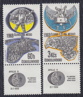 Czechoslovakia 1969 Apollo 11, MH (*) Michel 1888-1889 - Tchécoslovaquie