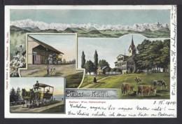Gruss Aus Nollen - 4 - Bild AK - Kutsche - 1904 - TG Thurgau
