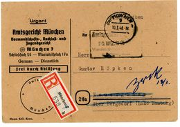 """""""Frei Durch Ablösung ... Amtsgericht München"""" Recobrief 1948 Nach Neuengamme/Bergedorf + Zurück - Bizone"""