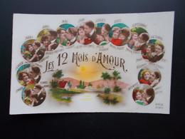 LES 12 MOIS D'AMOUR  Années 20 Couleur - Fancy Cards