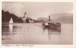 AK St. Wolfgang Am Abersee - Salzkammergut - Dampfer  (38352) - St. Wolfgang