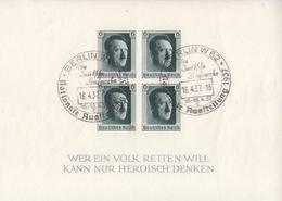 Bloc Feuillet N° 9 Non Dentelé Obl Berlin W62 Le 18/4/37 - Ungebraucht
