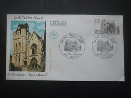 France FDC CATHEDRALE De Louviers 26-09-1981 Louviers - Eglises Et Cathédrales