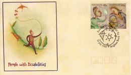 Peoples With Disabilities. FDC Australia Brighton Beach Victoria 1995 - Handicaps