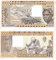 États De L'Afrique De L'ouest 1000 Francs - West-Afrikaanse Staten