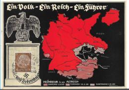 III-Pro020a/ Propagandakarte , Erinnerungskarte, Befreites Sudetenland Mit Sonderstempel Reichenberg - Deutschland