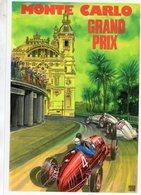 Grand Prix De Monaco 1937 - Mercedes W125 - Von Brauchitsch- Caracciola  -  Dessin De Brovarone   -  CPM - Grand Prix / F1