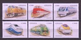 Ghana 1998 Mi 2701-2706 MNH TRAINS - Treni