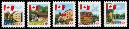 Canada (Scott No.2351-55 - Moulins / Mills) (o) Série / Set - 1952-.... Règne D'Elizabeth II