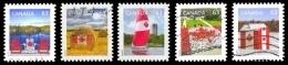 Canada (Scott No.2693-97 - Drapeau Canadien /63¢/ Canadian Flag)+ (o) - 1952-.... Règne D'Elizabeth II