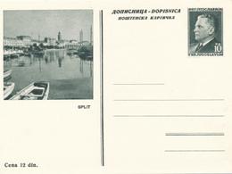JUGOSLAWIEN - 1953 , BPK Split - Postal Stationery