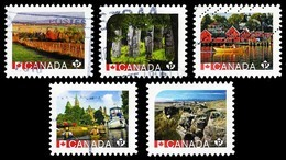 Canada (Scott No.2890-94 - Unesco) (o) - 1952-.... Règne D'Elizabeth II