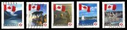 Canada (Scott No.2189-93 - Timbre Permanent / Permanant Stamps) (o) De Carnet / From Booklet - 1952-.... Règne D'Elizabeth II
