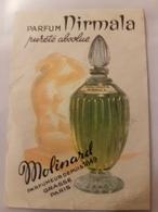 ANCIENNE CARTE PARFUMEE PARFUM MIRMALA MOLINARD - Antiguas (hasta 1960)