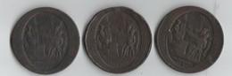 LOT 3 MONNERON.1790.MEDAILLE DE CONFIANCE DE 5 SOLS - France