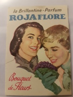 ANCIENNE CARTE PARFUMEE ROJAFLORE BOUQUET DE FLEURS BRILLANTINE - Antiguas (hasta 1960)