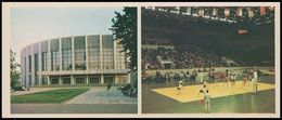 9/8a-3824 RUSSIA 1980 POSTARD Mint PETERSBURG VOLLEYBALL World Championship WOMAN FEMME FLAG DRAPEAUX SPORT USSR 9 - Volleyball