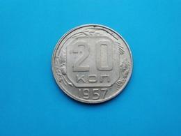 URSS - CCCP  20 Kopeck  1957  --Sup-- - Rusland