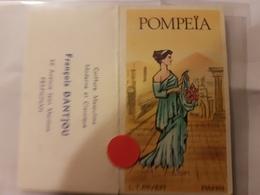 ANCIENNE CARTE PARFUMEE POMPEIA PIVER DANTJOU PERPIGNAN CALENDRIER - Perfume Cards