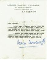 Militaria. Document 1945. Allied Navies Welfare. Marraine De Guerre. - Documents