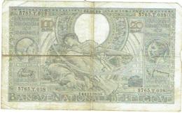 Billet. Belgie/Belgique. 100 Francs. 20 Belgas. 08.02.39. - [ 2] 1831-... : Royaume De Belgique