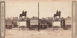 Photos - Stéréo. : LYON : Jardin & Place Bellecour ( éd. Observatoire Gay ) N° 5 - Photos Stéréoscopiques