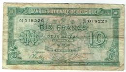 Billet. Belgie/Belgique. 10 Francs. 2 Belgas. 01.02.1943. - [ 2] 1831-... : Koninkrijk België