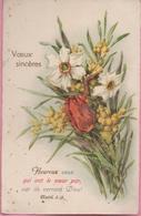 "CPA ""Vœux Sincères"" Fleurs 23-05-1942 - Blumen"