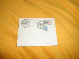 ENVELOPPE UNIQUEMENT DE 1958. / CACHETS 8 AOUT 1908. 1ER VOL DE WILBUR WRIGHT LE MANS + TIMBRES - Postmark Collection (Covers)