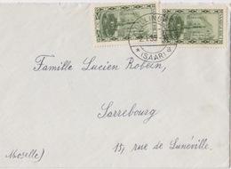 Lettre De Dillingen (Dillingen *Saar A) Sur 30c X 2 Pour Sarrebourg  Le 2/1/35 - 1920-35 Société Des Nations