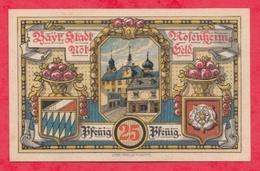 Allemagne 1 Notgeld De 25 Pfenning Stadt Rosenheim UNC  N °2402 - [ 3] 1918-1933 : République De Weimar
