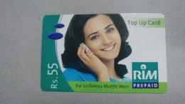 India-rim Prepiad Card-(44c)-(rs.55)-(navi Mumbai)-(30.6.2006)-(look Out Side)-used Card+1 Card Prepiad Free - India