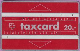 Télécarte Suisse °° Ho.6 -taxcard Rouge - 20- 1462.inv-RV. - Suisse