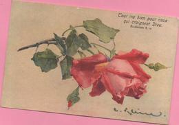 CPA Rose, Circulée - Fleurs