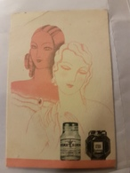 ANCIENNE CARTE PARFUMEE CREME SIMON - Perfume Cards