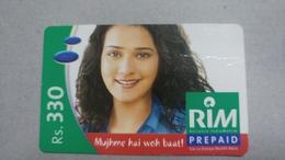India-rim Prepiad Card-(44f)-(rs.330)-(navi Mumbai)-(21.8.2005)-(look Out Side)-used Card+1 Card Prepiad Free - India