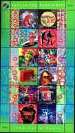 74645) Australia -Australia 1998 Rock N Roll SHEETLET Di 12V- USATO - Blocchi & Foglietti