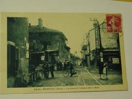 ISERE-BRIGNOUD-5431-LA PLACE ET L'AVENUE DE LA GARE-ANIMEE - Otros Municipios