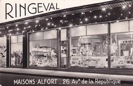 D94  MAISONS ALFORT  RINGEVAL 26 AV DE LA RÉPUBLIQUE  ......... Carte Photo Publicitaire  Dentelée Format 9 Cm X 14 Cm - Maisons Alfort