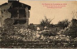54 . LA FERME DE SAINT EPVRE PRES LUNEVILLE BOMBARDEE PAR LES FRANCAIS .. 1914 - Luneville