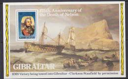 Gibraltar 1980 175th Anniversary Death Of Lord Nelson M/s ** Mnh (41556A) Promotion - Gibraltar