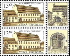 Czech Republic - 2014 - Technical Monuments - Handmade Paper Mill In Velke Losiny - Mint Booklet Stamp Pair With Coupons - Czech Republic