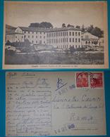 Cartolina Cingoli (Macerata) - Seminario Serafico Dei PP. Cappuccini. Viaggiata 1948 - Macerata