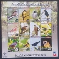 DE23 - Dominican Republic 2012 Birds Sc 1529 FULL SHEET S/S - MNH - Dominican Republic